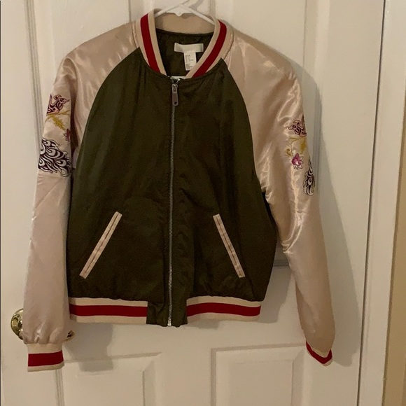 H&M Jackets & Blazers - Satin baseball jacket